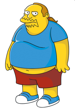The Comic Book Guy is a fat long haired male