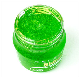 Picture of green hair gel for men