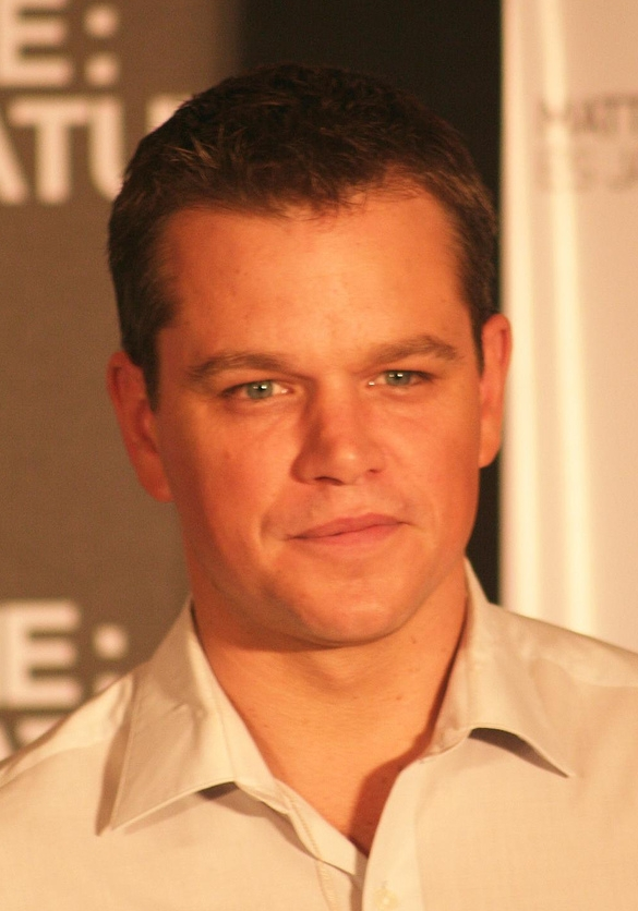 Matt Damon with an Ivy League haircut for a side part hair style