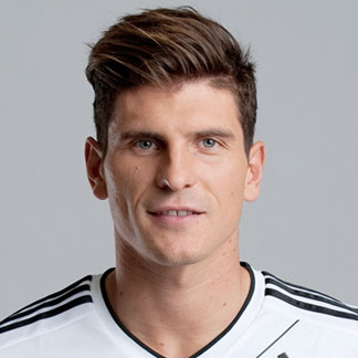 Mario Gomez with an undercut hairstyle for his straight hair.