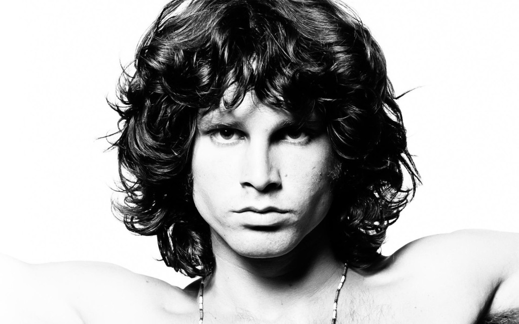 The wavy hair of Jim Morrison with his hairstyle