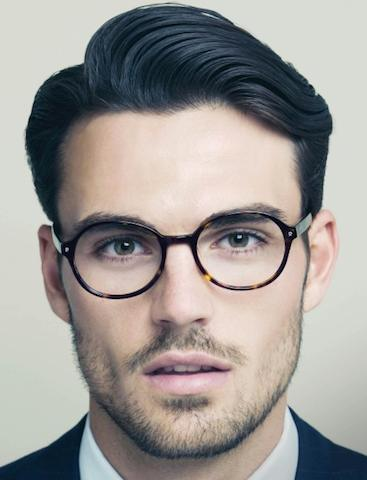 A classic side part hairstyle for men