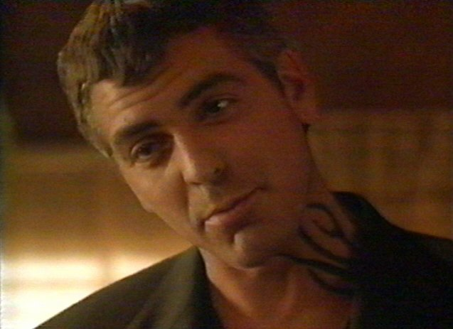 Goerge Clooney with a Caesar Cut hairstyle and haircut