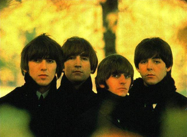 The Beatles with the Mop Top hairstyle and haircut