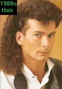 The Mullet hair style with a tight haircut