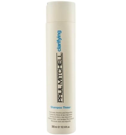 A bottle of clarifying shampoo for men's hair