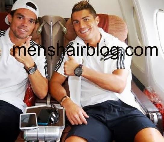 Cristiano Ronaldo with a Quiff undercut hairstyle