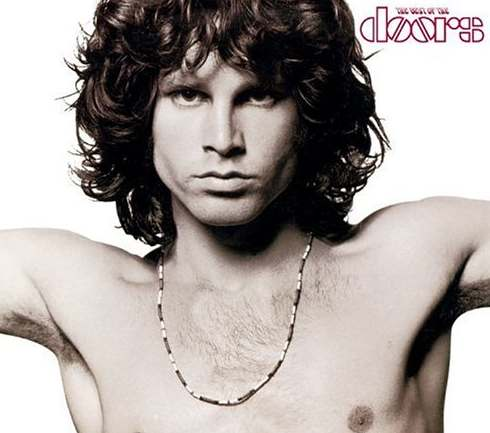 The Jim Morrison hairstyle for wavy hair